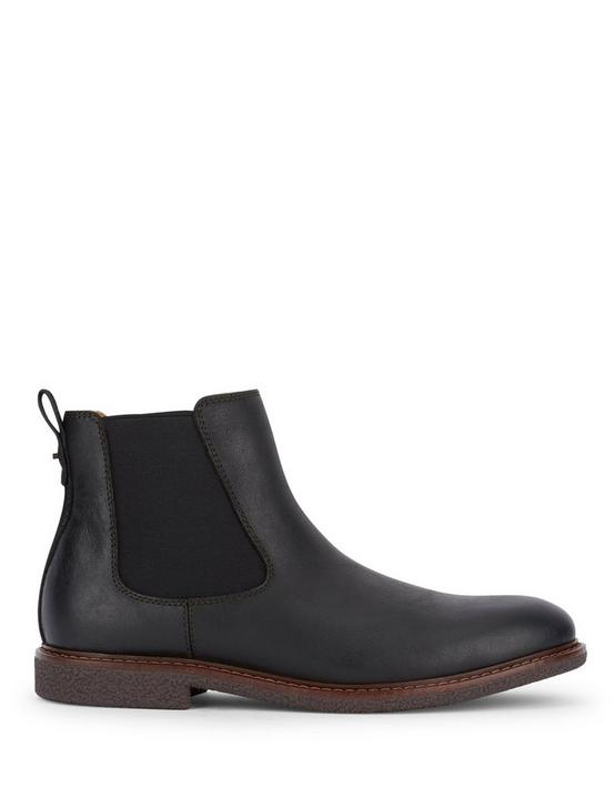 BRENTWOOD CHELSEA LEATHER BOOTS, BLACK, productTileDesktop