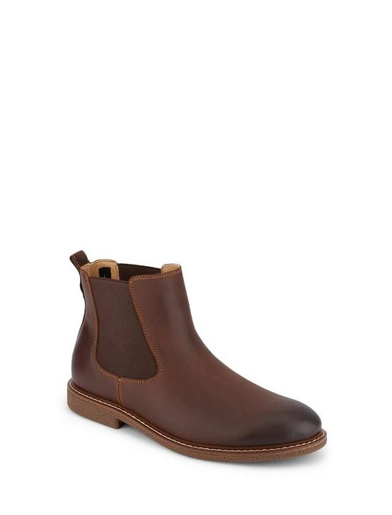 BRENTWOOD CHELSEA BOOT, MEDIUM BROWN, productTileDesktop