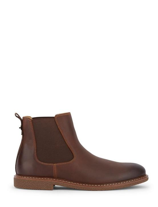 BRENTWOOD CHELSEA LEATHER BOOTS, MEDIUM BROWN, productTileDesktop