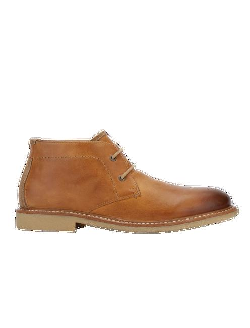 MASTERS CHUKKA LEATHER BOOTS, LIGHT BROWN