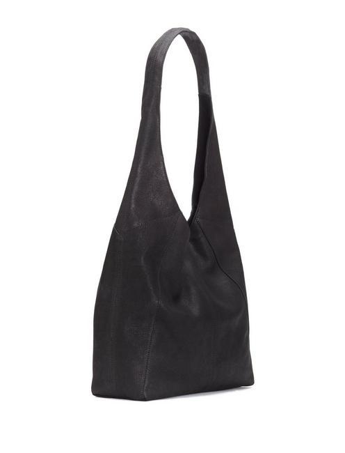 PATTI LEATHER SHOULDER BAG, BLACK
