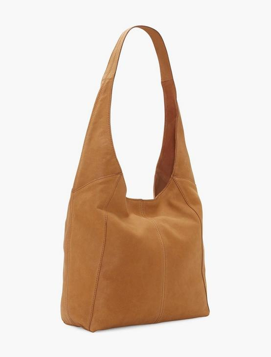 PATTI LEATHER SHOULDER BAG, WALNUT, productTileDesktop