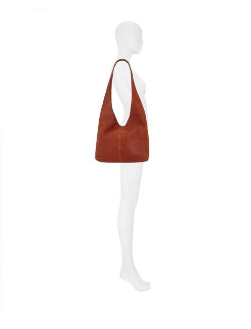 PATTI SHOULDER BAG, OPEN BROWN/RUST