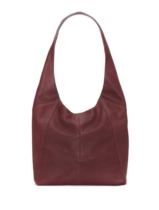 PATTI LEATHER SHOULDER BAG, DARK PURPLE, productTileDesktop