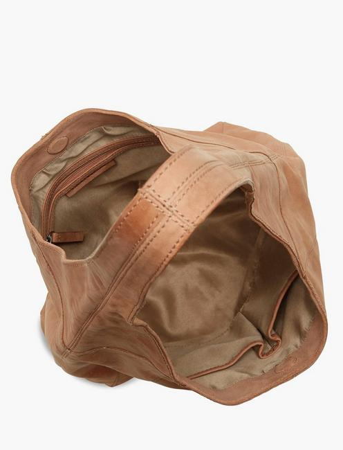 PATTI LEATHER SHOULDER BAG, RUBY TAN