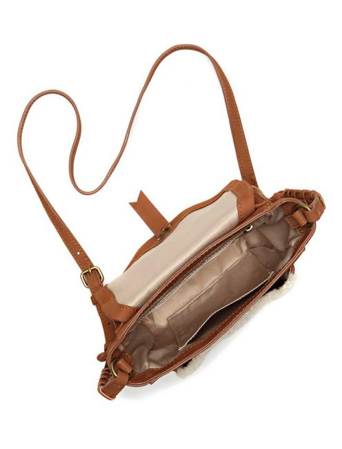 PRIA CROSSBODY, LIGHT BROWN