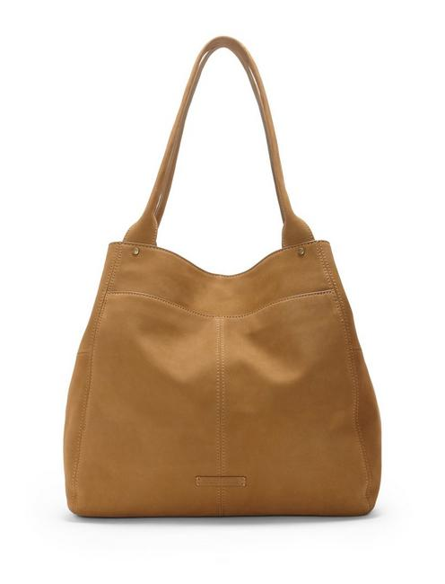 WREN TOTE, MEDIUM DARK BROWN