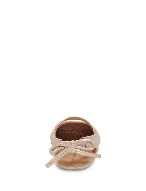 INFANT BRITLEY BOW BACK SLIPPER, SILVER