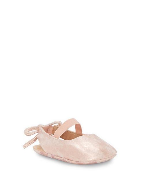 INFANT BRITLEY BOW BACK SLIPPER, MEDIUM BROWN