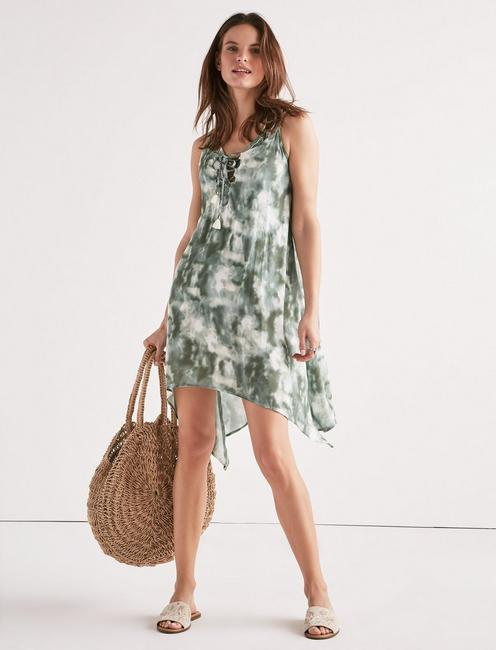 42811c9402597 Indian Summer Lace-Up Swing Dress | Lucky Brand
