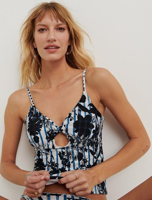 ON THE GRID TANKINI, DARK BLUE