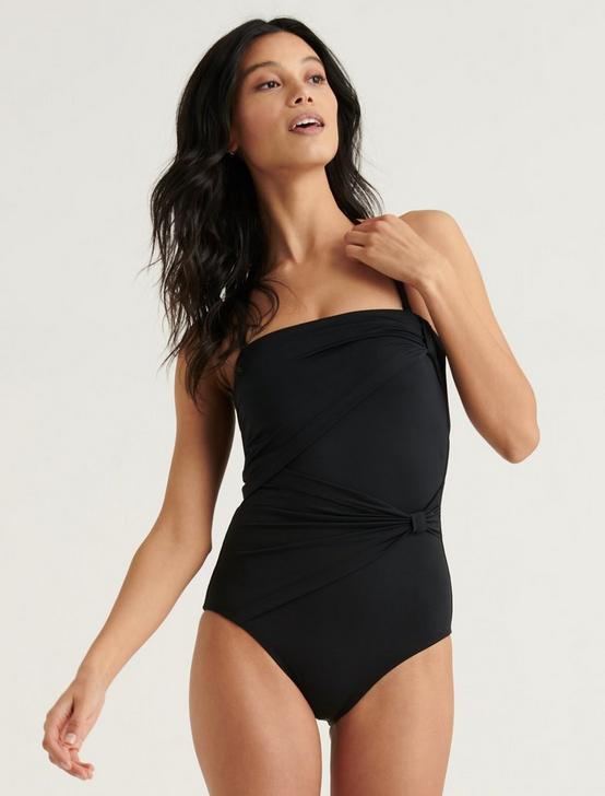 CONVERTIBLE STRAPLESS ONE PIECE, BLACK, productTileDesktop