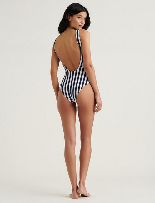 CLASSIC ONE PIECE, WHITE/DARK BLUE