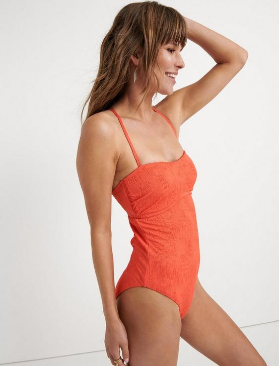 DOHENY BEACH ONE PIECE, CORAL ORANGE, productTileDesktop