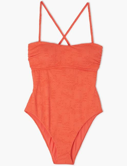 DOHENY BEACH ONE PIECE, CORAL ORANGE