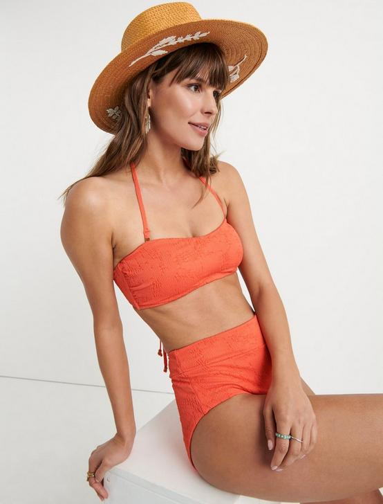 DOHENY BEACH BANDEAU, CORAL ORANGE, productTileDesktop