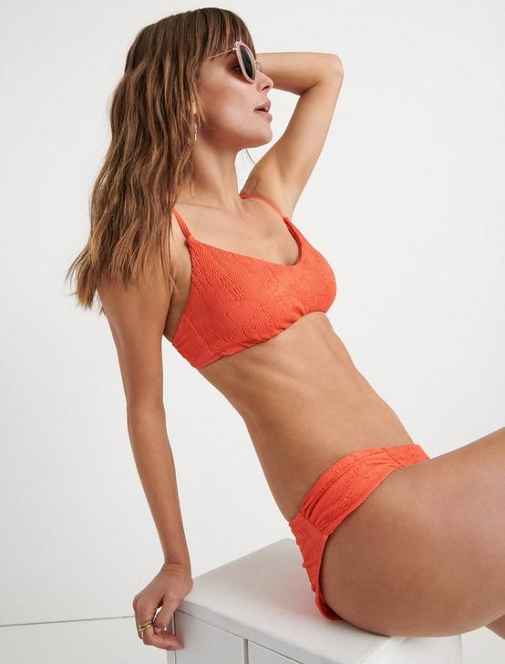 DOHENY BEACH BRALETTE, CORAL ORANGE, productTileDesktop