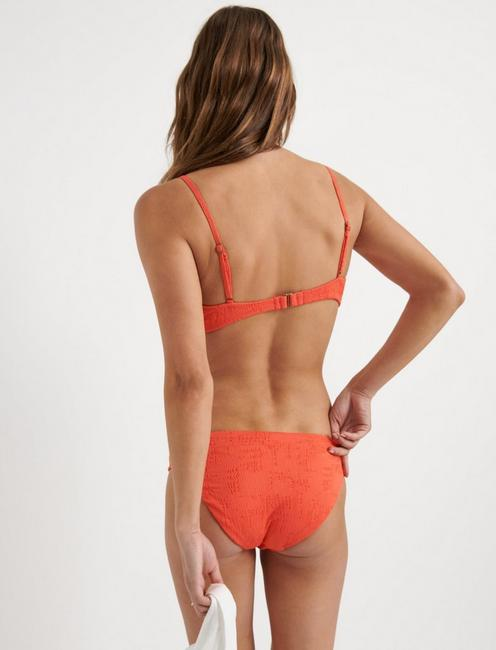 DOHENY BEACH SIDE SHIRRED HIPSTER, CORAL ORANGE