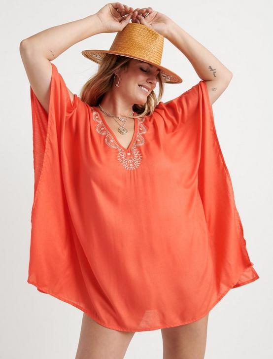 LA QUINTA PLUS TUNIC, CORAL ORANGE, productTileDesktop