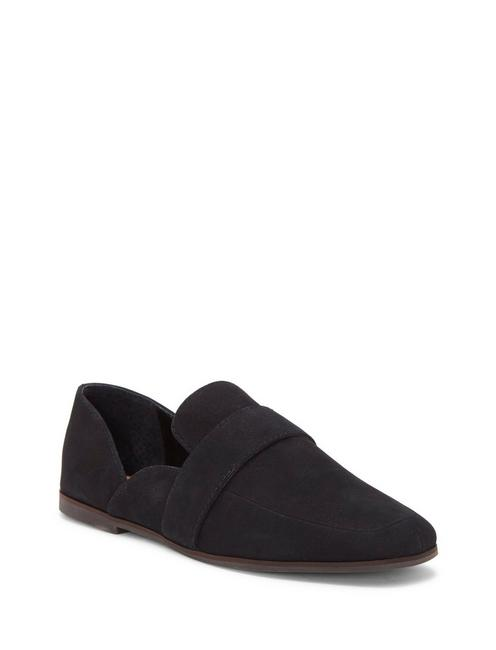 ADELHA LEATHER FLAT SLIDES, FEATHER
