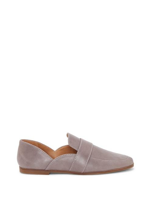 ADELHA LEATHER FLAT, LIGHT GREY