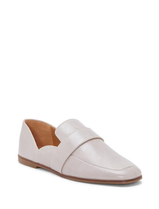 ADELHA LEATHER FLAT SLIDES, OPEN GREY, productTileDesktop