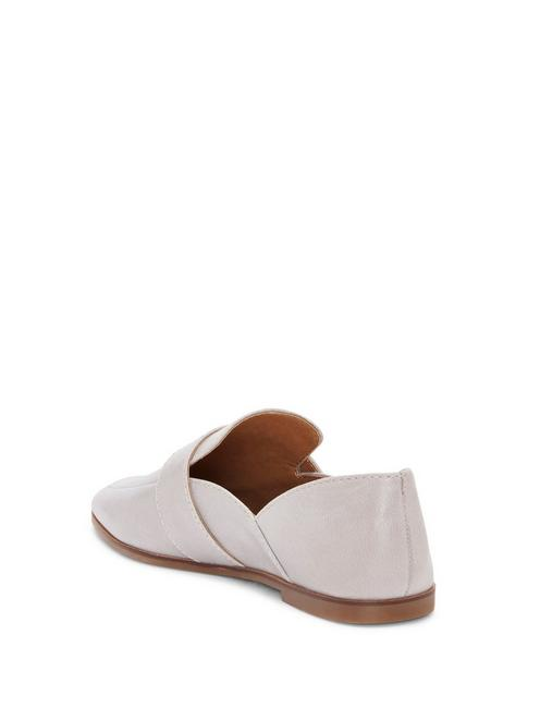 ADELHA LEATHER FLAT, OPEN GREY