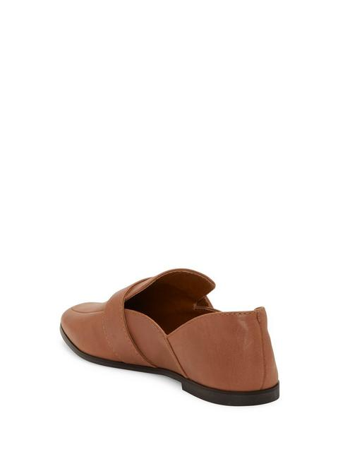 ADELHA LEATHER FLAT, DARK BROWN