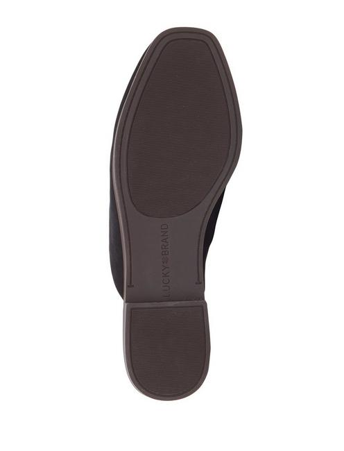 AGNAE LEATHER SLIDE, FEATHER