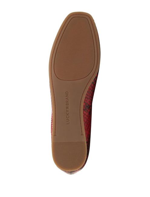 ALBA FLAT, DARK RED