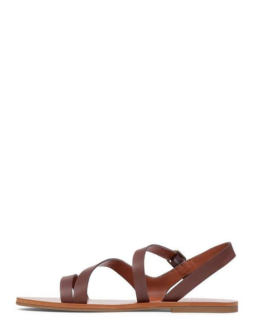 ALEXCIA SANDAL, OPEN BROWN/RUST