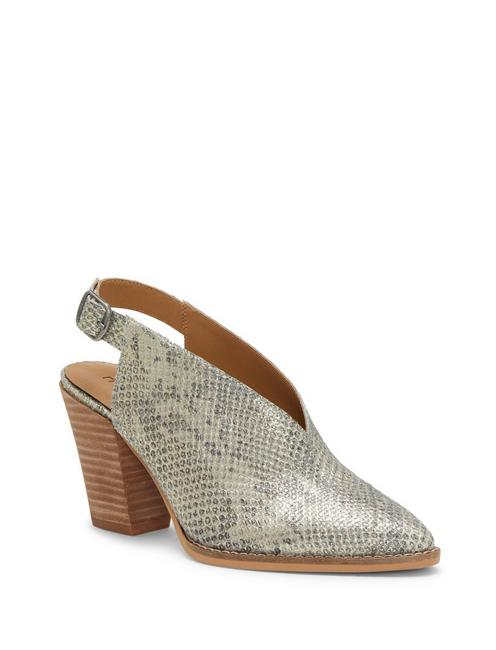 AROYLI LEATHER HEEL, LIGHT GREY
