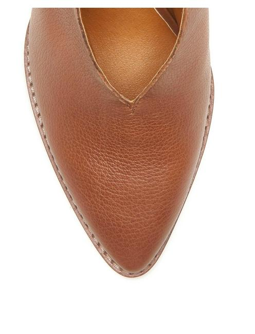 AROYLI LEATHER HEEL, MEDIUM DARK BROWN