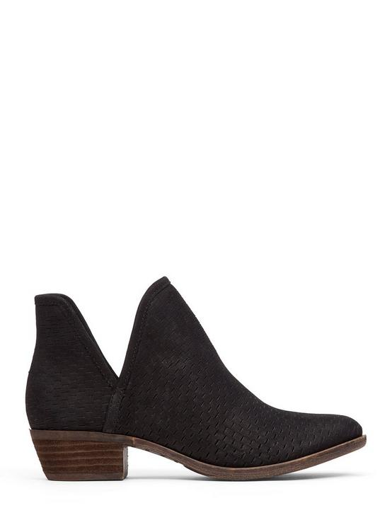 BALEY SUEDE BOOTIE, BLACK, productTileDesktop
