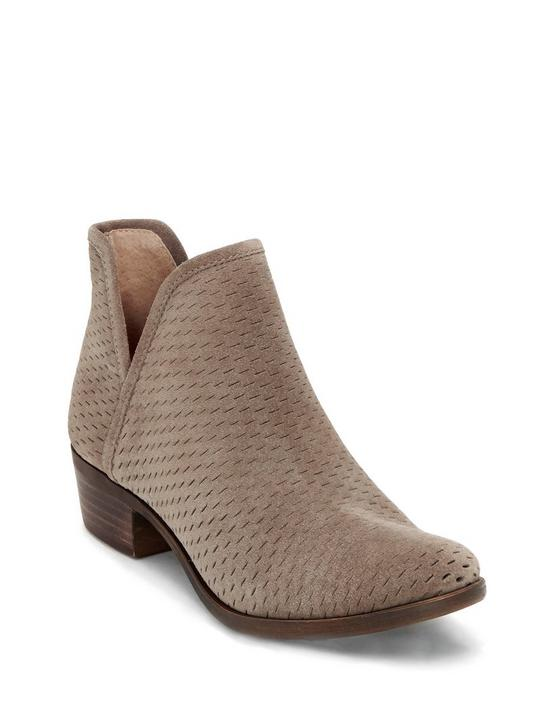 BALEY SUEDE BOOTIE, OPEN BROWN/RUST, productTileDesktop