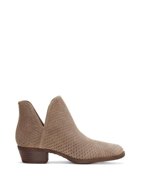 BALEY SUEDE BOOTIE, OPEN BROWN/RUST