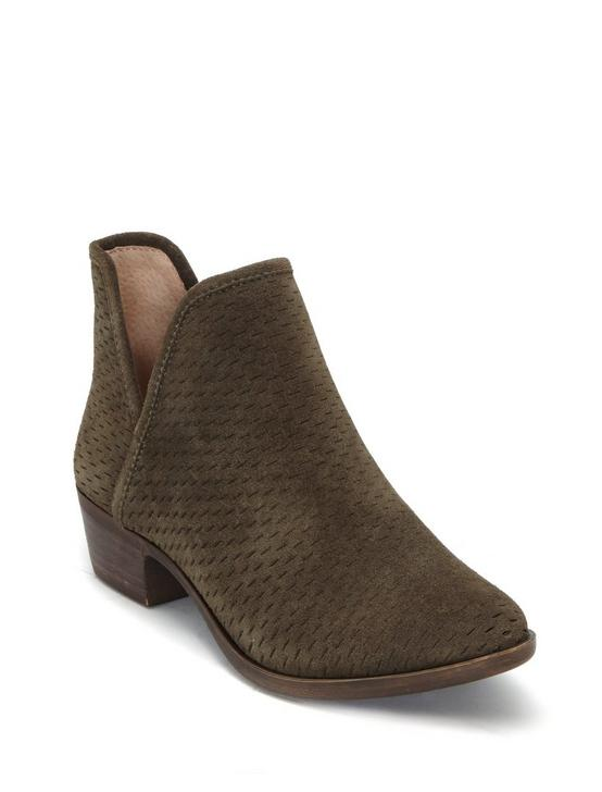 BALEY SUEDE BOOTIE, DARK OLIVE, productTileDesktop