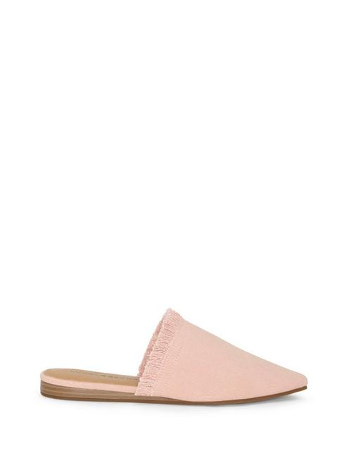 BAPSEE CANVAS FLAT SLIDES, CORAL PINK