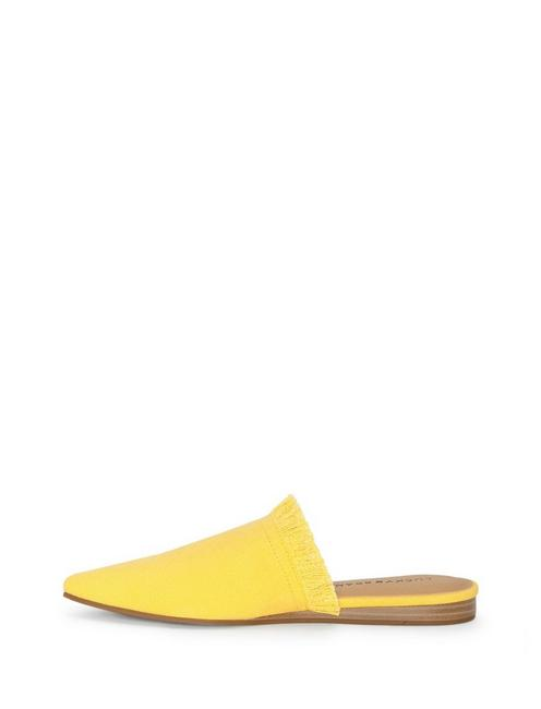 BAPSEE CANVAS FLAT SLIDES, LIGHT YELLOW