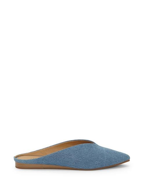 BARBORA SLIDE FLAT, OPEN BLUE/TURQUOISE