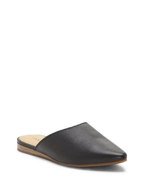 BAREISHA LEATHER FLAT SLIDES, BLACK, productTileDesktop
