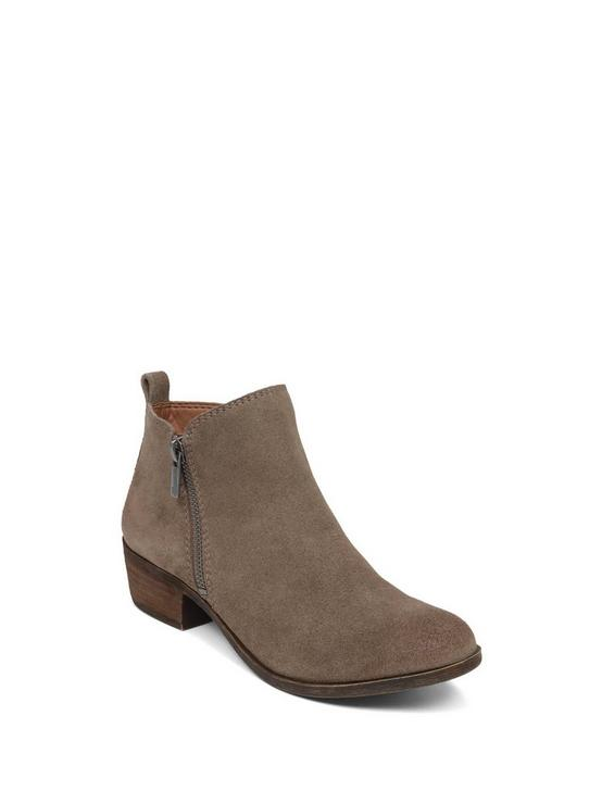 BASEL SUEDE FLAT BOOTIE, LIGHT BROWN, productTileDesktop