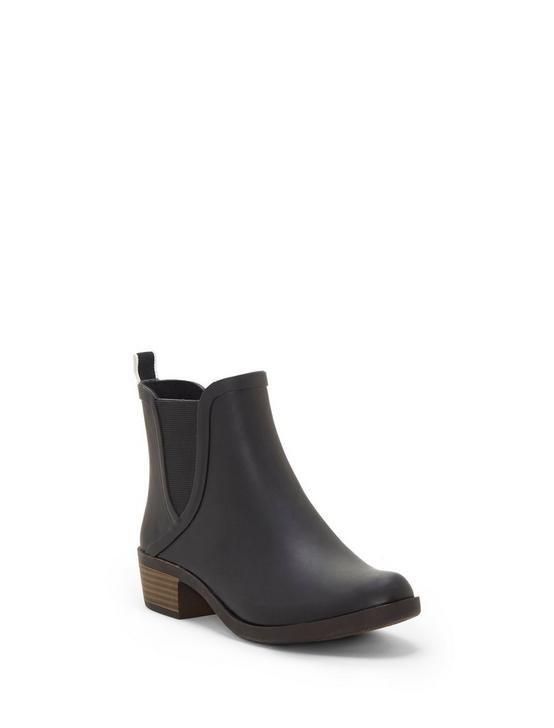 BASEL RAINBOOT BOOTIE, BLACK, productTileDesktop