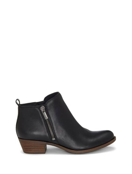 BASEL FLAT LEATHER BOOTIE, BLACK, productTileDesktop