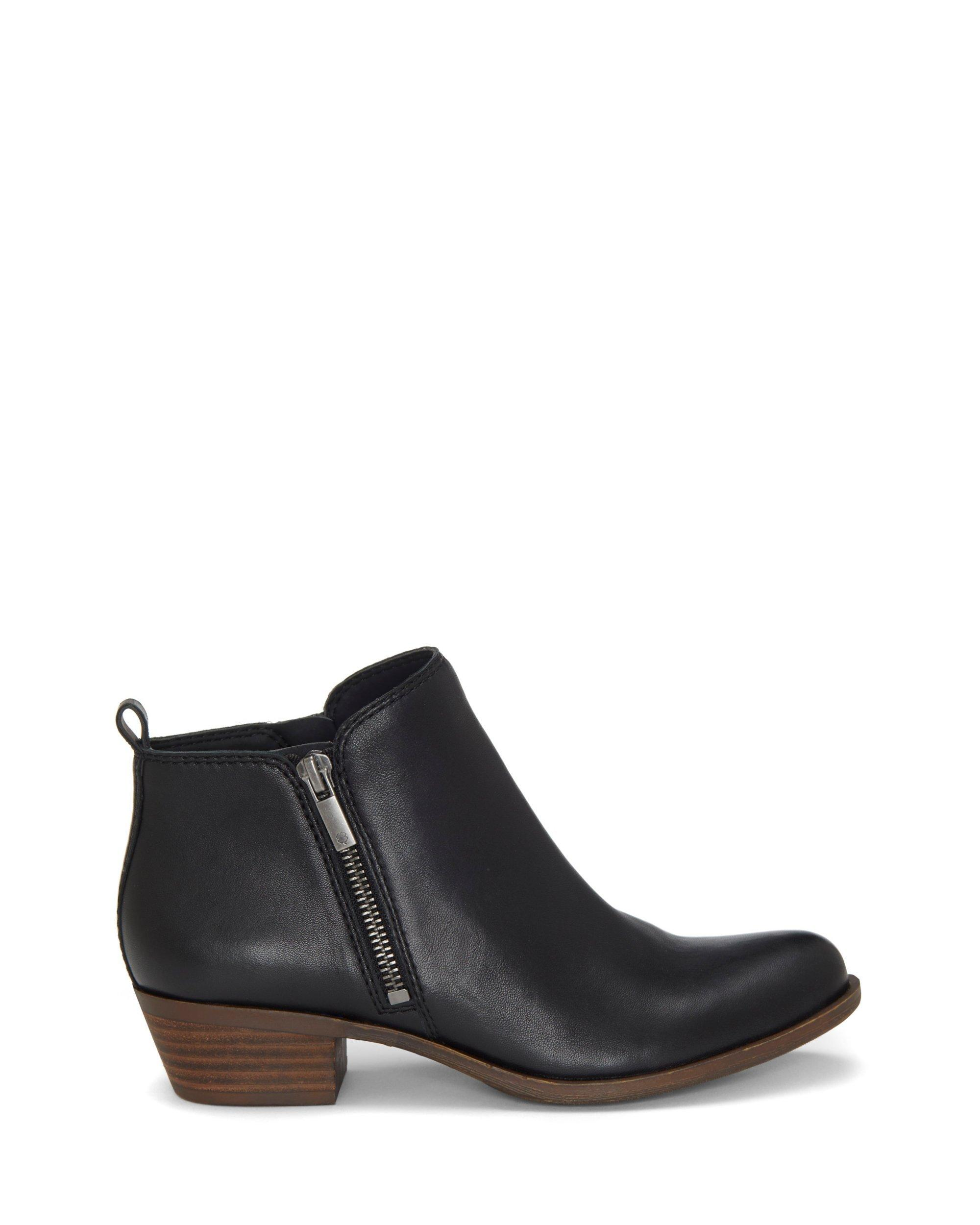BASEL LEATHER FLAT BOOTIE, image 2