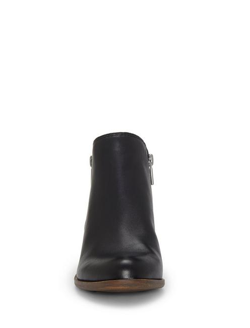 BASEL FLAT LEATHER BOOTIE, BLACK