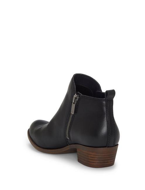 BASEL LEATHER FLAT BOOTIE, BLACK