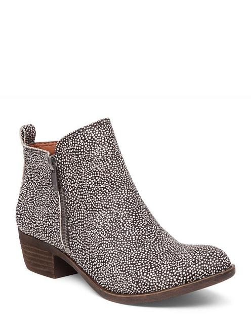 BASEL LEATHER FLAT BOOTIE,