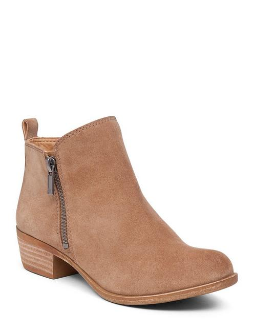 BASEL FLAT LEATHER BOOTIE, SESAME