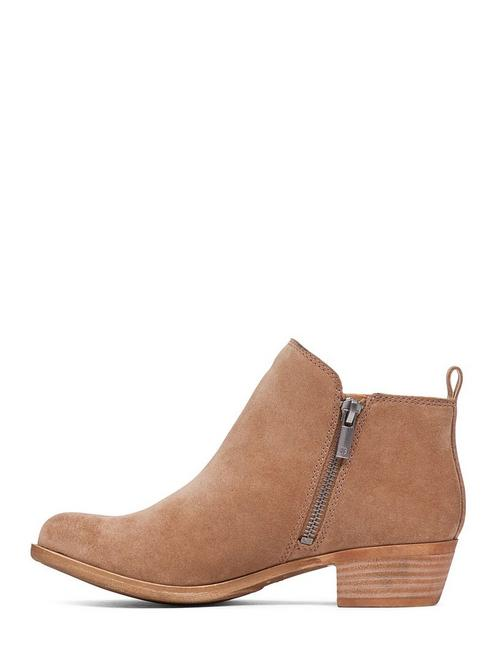 BASEL LEATHER FLAT BOOTIE, SESAME